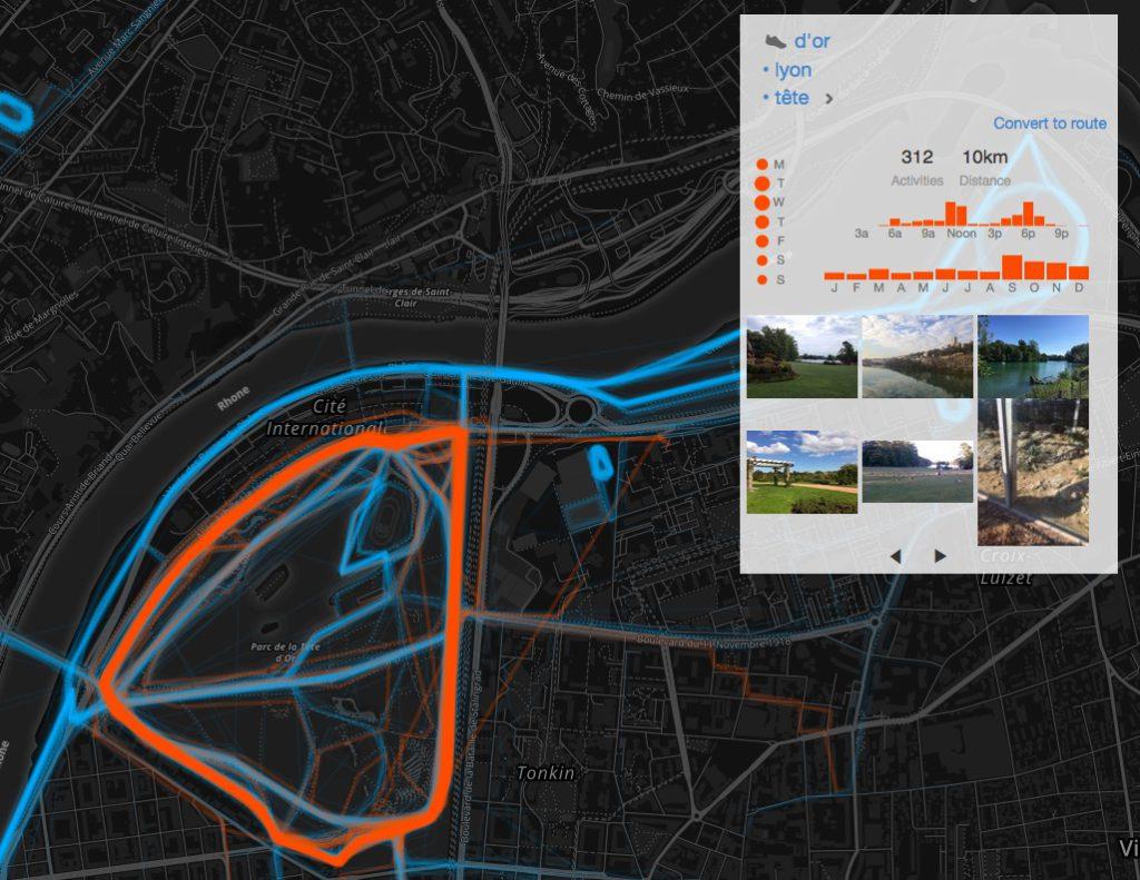 strava heatmap Lyon